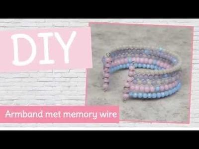 DIY sieraden maken met Kralenhoekje - armband met memory wire