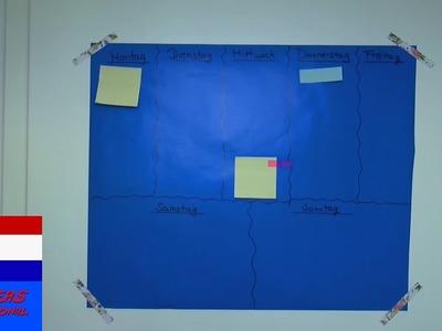 DIY zelf plannerprikbord maken | post-it-kalender voor aan de muur | tutorial