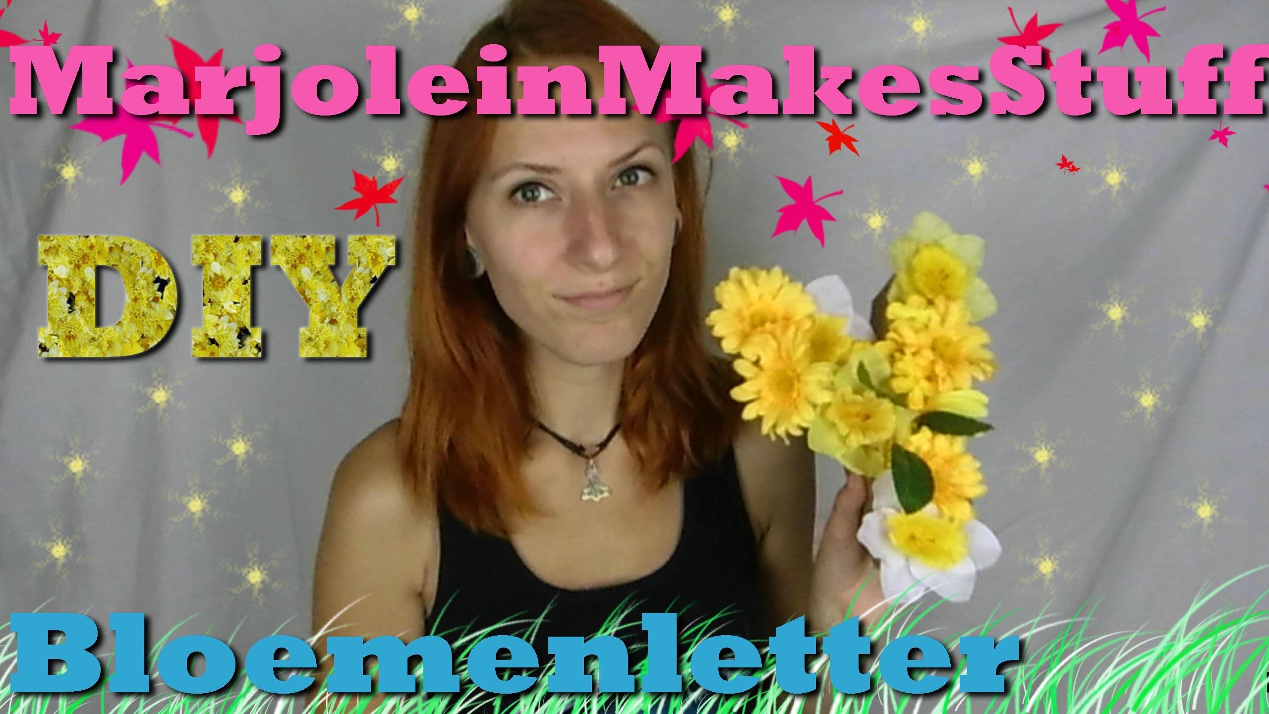 Bloemenletters | DIY | Nederlands