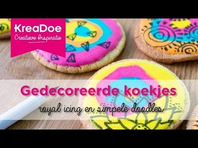KreaDoe - DIY - Tutorial Gedecoreerde koekjes