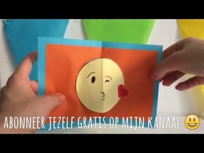 DIY emoji pop-up kaart. emoji pop up card (Nederlands)
