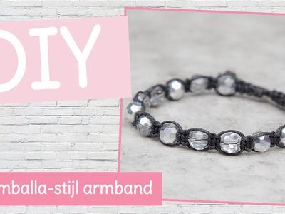 DIY sieraden maken met Kralenhoekje - armband knopen in shamballa stijl