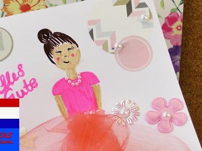 Balletkaart voor kleine ballerina's | DIY kaart versieren | als uitnodiging of voor verjaardag