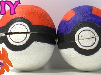 DIY pokeball knutselen van papier mache _ Pokemon!