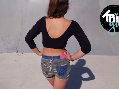DIY van legging naar crop top | KNIPgirls Britt