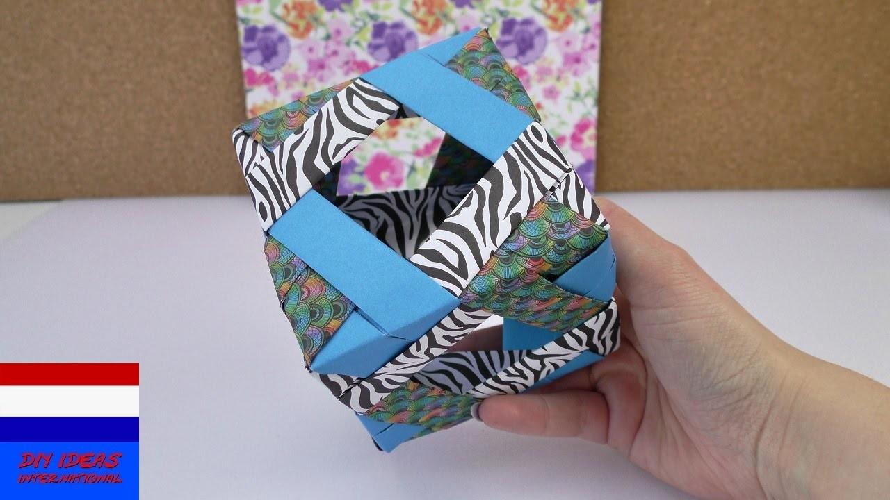 Origamikubus met venstertjes | DIY leuke papieren kubus |eenvoudig & snel | modulaire origami