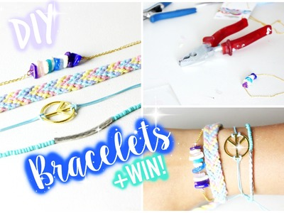 EASY DIY bracelets! + WIN!. Muchabless