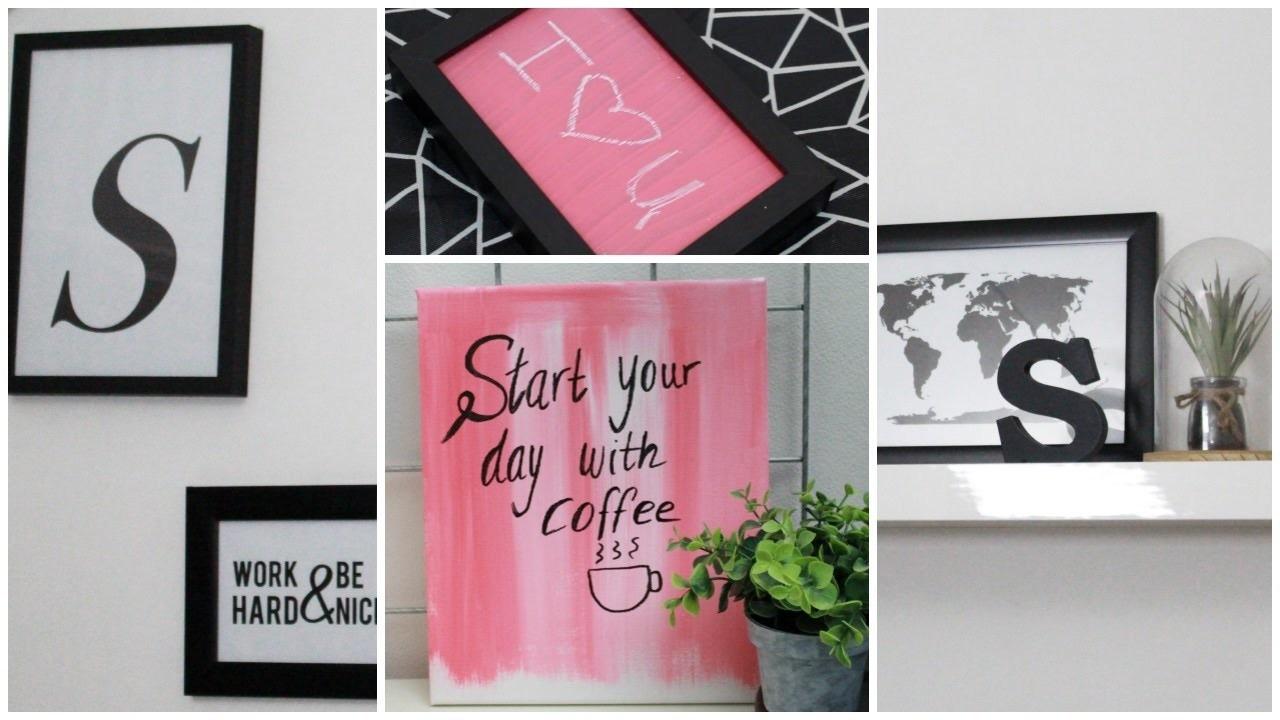 DIY Room Decor: Wall Art + Whiteboard & Chalkboard | Sabrina Putri