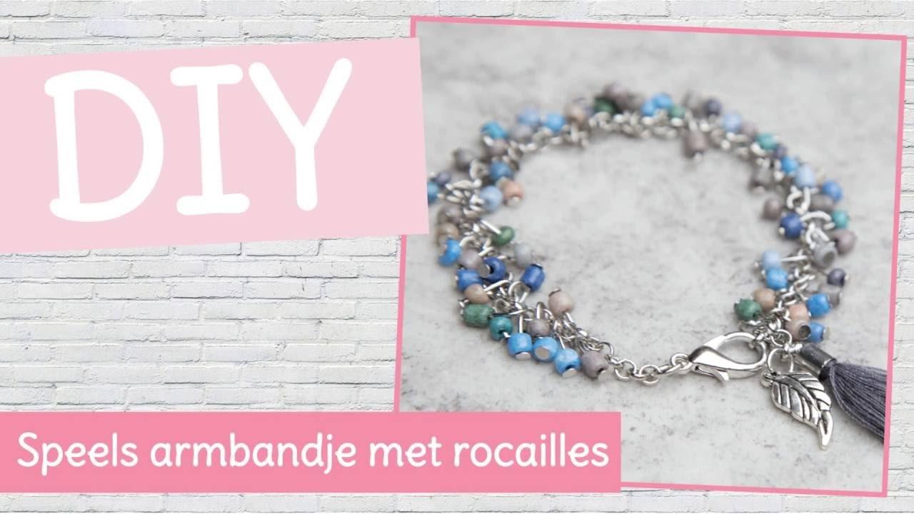 DIY sieraden maken - Speels armbandje met rocailles