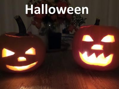 Zachary Masha HALLOWEEN pompoen uitsnijden DIY ~ How to carve a Halloween Pumpkin DIY