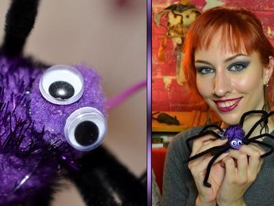 Halloween DIY: Harige spin + spinnenweb