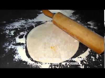 De heerlijkste zachte Surinaamse roti gevuld met dahl- Surinam roti stuffed with dahl!