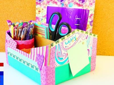 Grote opbergdoos maken voor op je bureau | EINDELIJK orde | back to school | vakantieproject