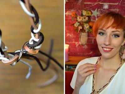 DIY: Leren touwtjesketting (makkelijk!)
