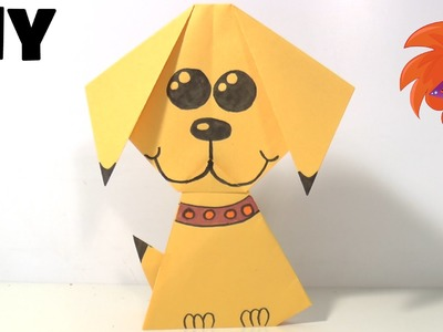 Origami hondje vouwen van papier