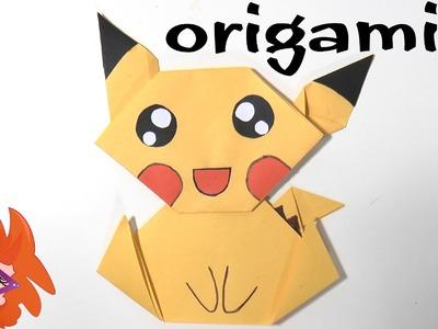 Pikachu vouwen van papier - Pokemon origami