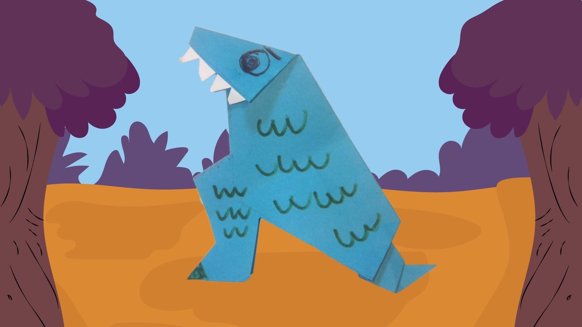 Dinosaurus: T-Rex vouwen - origami - photo#49