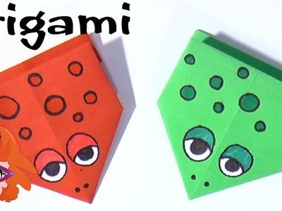 DIY - Origami: springende kikker vouwen van papier (makkelijk)
