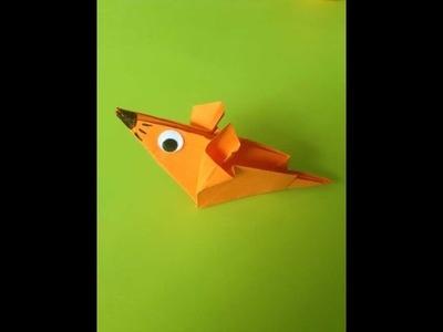 Origami met Juf Jannie - muis vouwen van vouwpapier