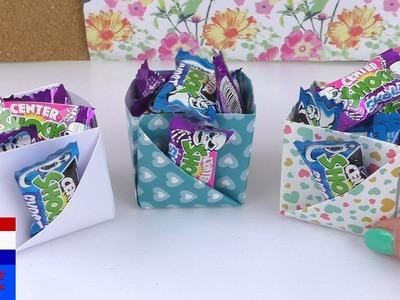 Doosjes met extra zakje vouwen | leuke opbergdoosjes in kubusvorm | cadeauverpakking