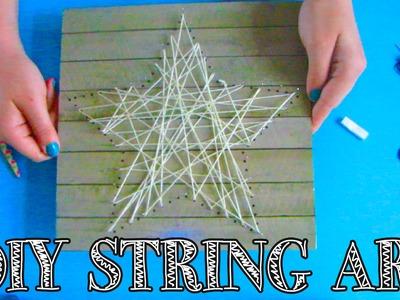 DIY STRING ART | TOUW EN SPIJKERS WIKKELEN