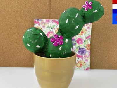 DIY cactus van gips | zelf coole plantendecoratie voor de vensterbank maken