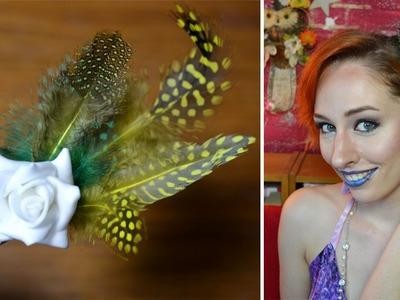 DIY: Zomerse haarclip (bloemen en veertjes!)