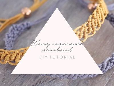 DIY TUTORIAL: Wavy knooparmband van Macramé - Zelf sieraden maken