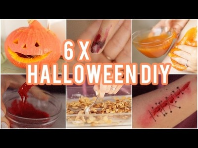 6 x Halloween DIY ❤ Nagels, pompoen, scrub, recept, bloed, wond | Beautygloss