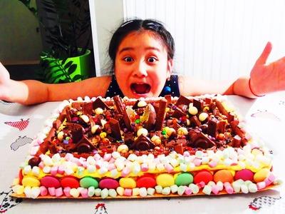 MEGA GROTE SNOEP en CHOCOLADE TAART!!! CRAZY CANDY CAKE!!!