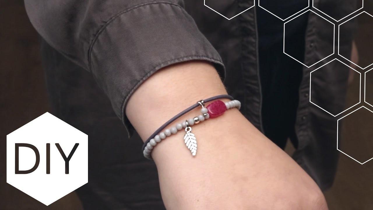 DIY sieraden maken met Kralenhoekje - armbandensetje van kralen en leer