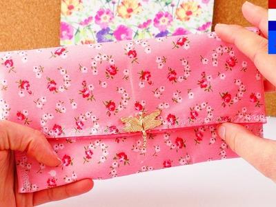 DIY portemonnee naaien | stoffen etui, klein tasje voor make-up, organizer