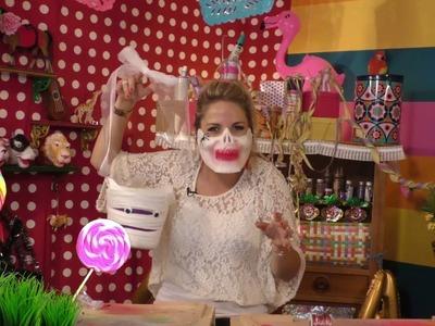 KnutselTV - DIY Halloween mandje