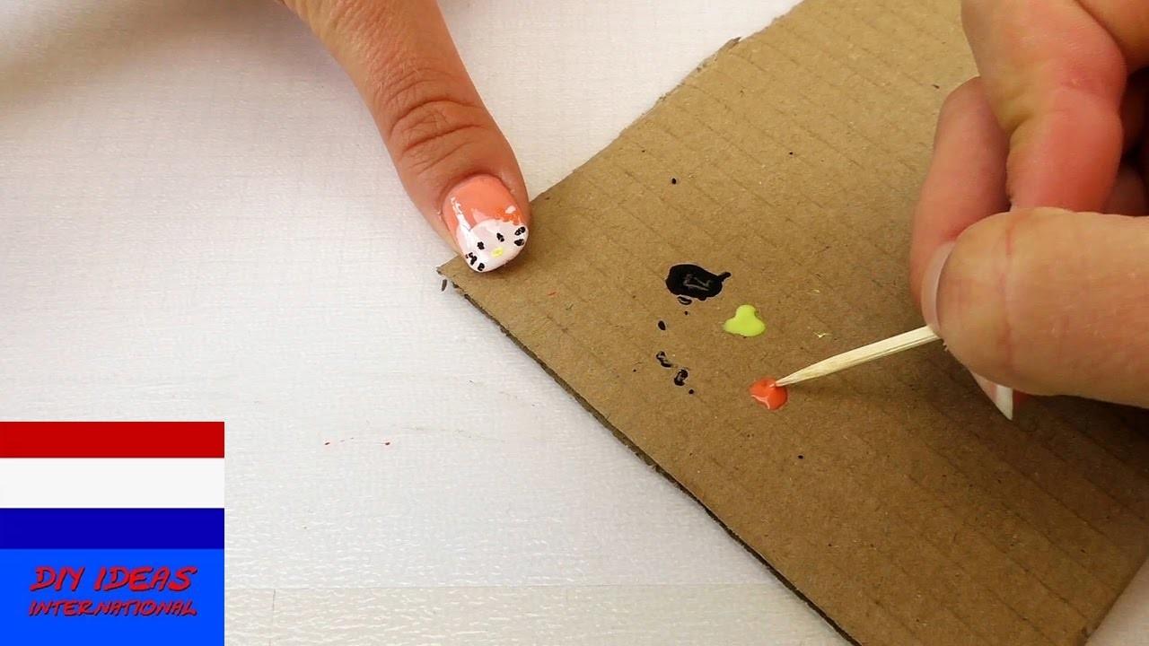 Hello Kitty Nagels, DIY Nageldesign met Hello Kitty heel makkelijk ...