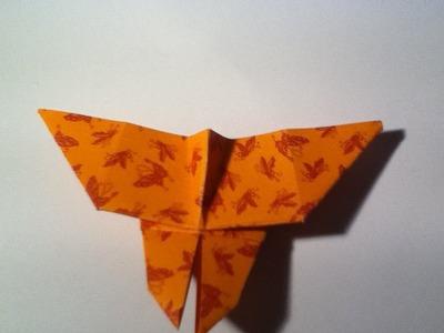 Hoe vouw je een makkelijke vlinder. How to fold an easy butterfly