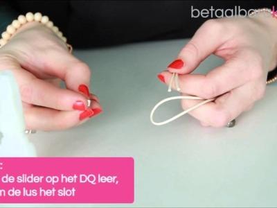 DIY: Hoe maakt u een armband met een DQ eindkap met knop?