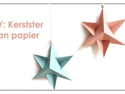 DIY: Kerstster van papier