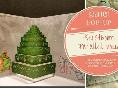 Pop-up Parallel vouw Kerstboom Deel 1