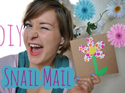 DIY - SnailMail - Bloemenkaartje - EliseDingen