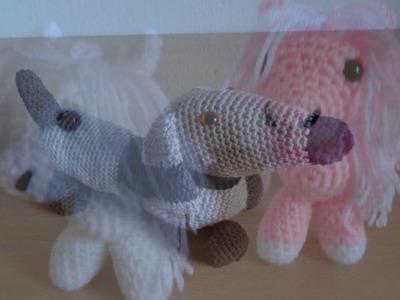 Mijn diavoorstelling Crochet Amigurumi Litte Pony en Teckel