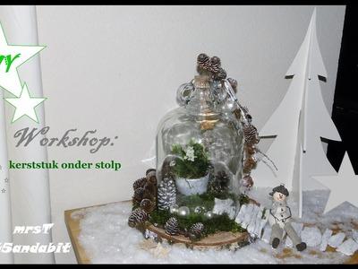 DIY kerststukjes maken, Weihnachtsdeko basteln: onder een stolp. Christmas decorations