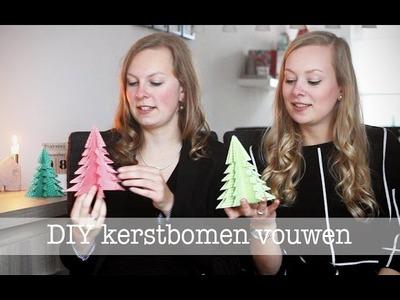 DIY | Kerstbomen vouwen