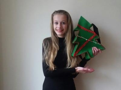 DIY: kerstboom tas maken | KNIPgirls Jasmijn