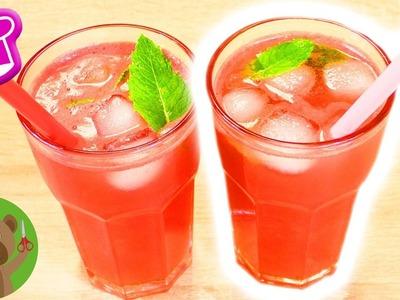 DIY watermeloenlimonade | Superlekkere limonade zonder toegevoegde suiker | Party