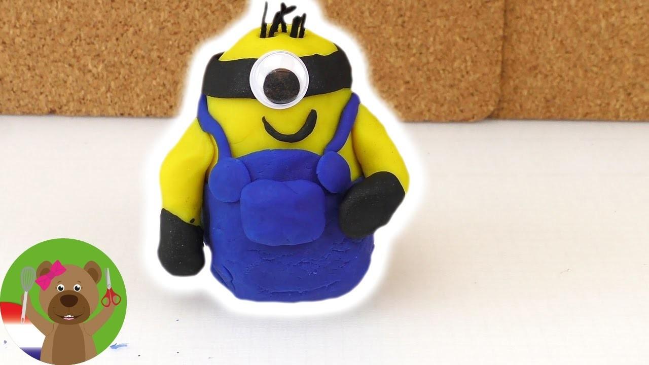 Play Doh Minions Tutorial - Hoe maak ik Minions van Play Doh klei?