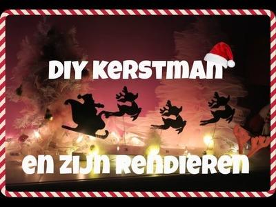 DIY kerstman en zijn rendieren