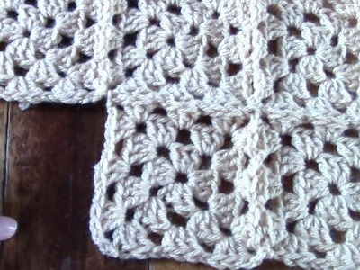 Haken - tutorial: grannies verbinden : join as you go deel 2