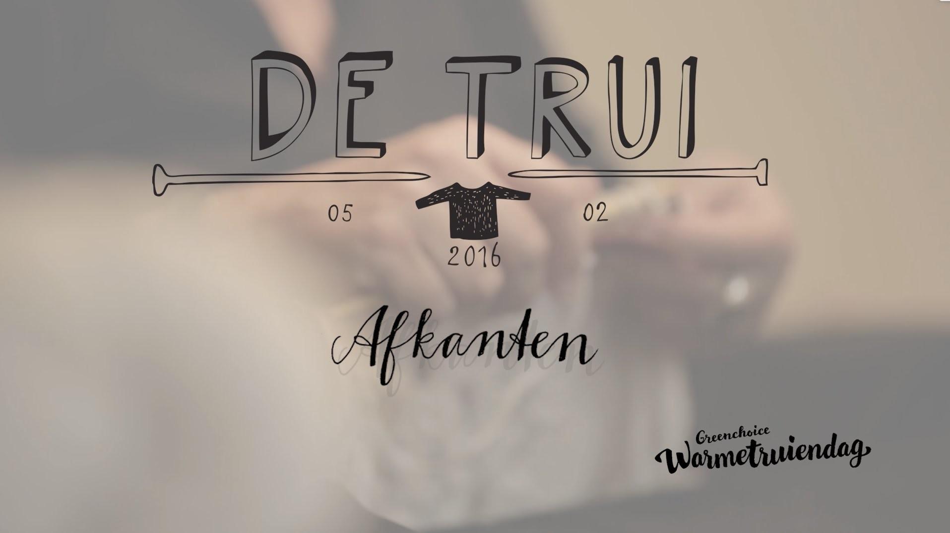 Instructiefilm 5 Afkanten Brei De Trui Van 2016