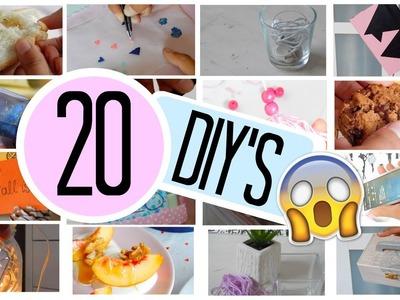 20 DIY'S IN 1 VIDEO. Room decor, snacks + nog veel meer!. Mylifeasamber