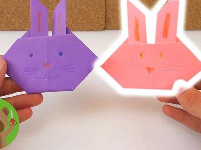 Origamihandleiding: haas - Figuur heel makkelijk zelf vouwen - Tutorial Nederlands